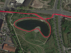 GPS test: Garmin Edge 500 - Cycling around a Lake