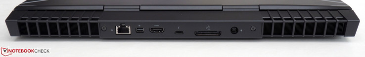 Rear: RJ45-LAN, Mini-DisplayPort 1.2, HDMI 2.0, Thunderbolt 3, Graphics Amplifier, power
