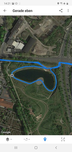 GPS test: Samsung Galaxy Note 10+ - Cycling around a lake