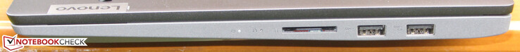 Right side: SD card reader, 2x USB 3.2 Gen 1 (Type A)