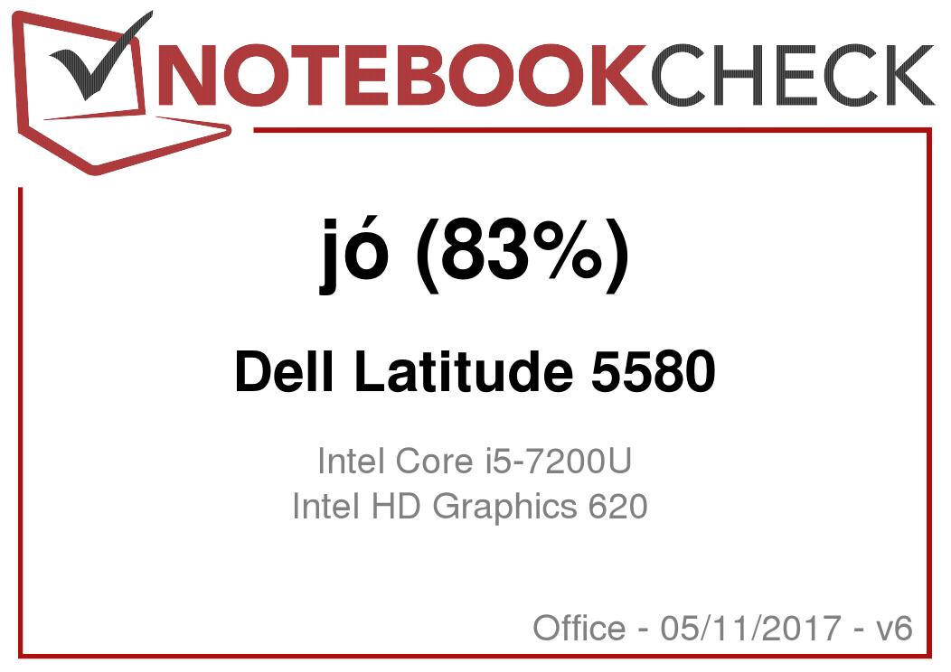 Dell Latitude 5580 (i5-7200U, HD) Laptop rövid értékelés