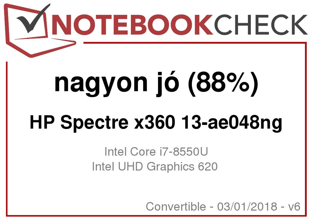 HP Spectre x360 13t (i7-8550U, FHD, SSD) Laptop rövid